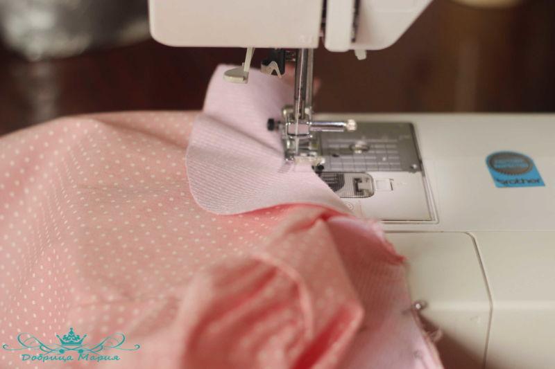 блузка с баской на девочку своими руками26