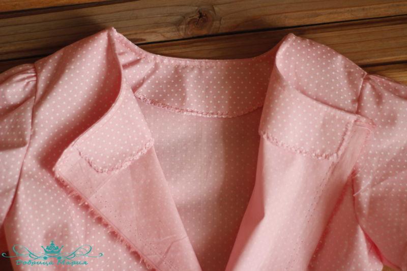 блузка с баской на девочку своими руками29