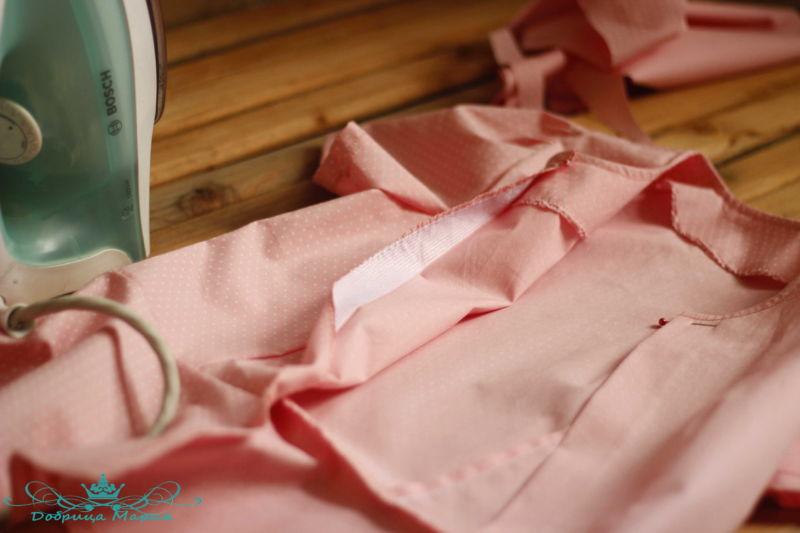 блузка с баской на девочку своими руками40