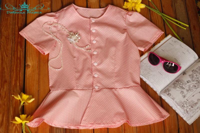 блузка с баской на девочку своими руками49