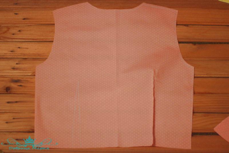 блузка с баской на девочку своими руками5