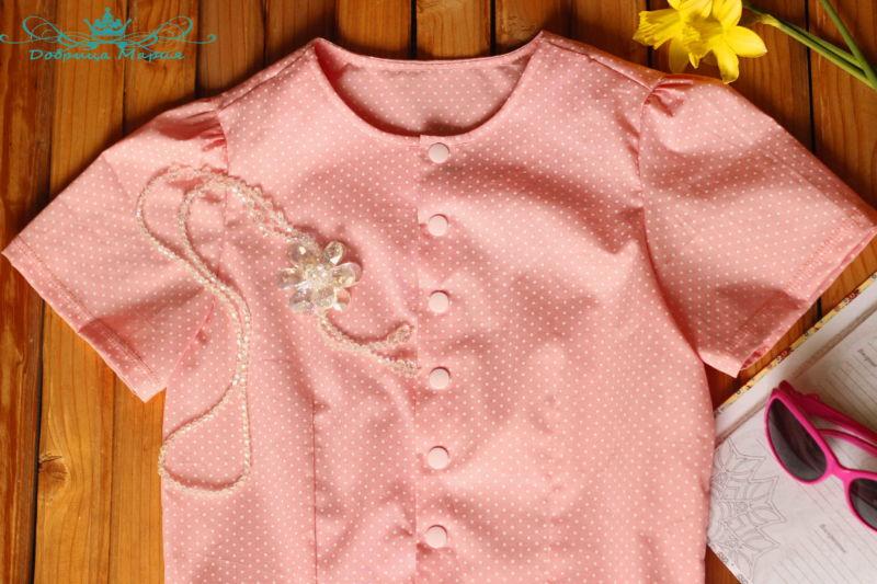 блузка с баской на девочку своими руками51