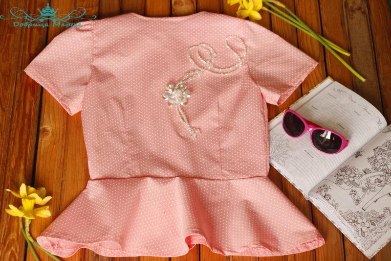 блузка с баской на девочку своими руками54