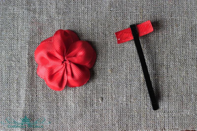 цветок из лент10