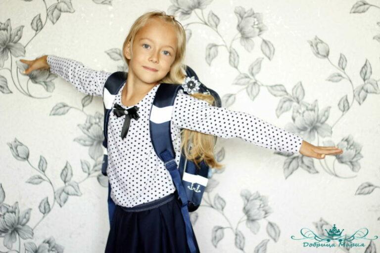 выкройка галстука для девочки к школьной форме