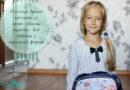 Галстук-брошь в стиле канзаши из лент своими руками для девочки к школьной форме
